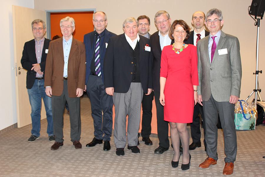 od lewej Dr E. Winschewski, Dr G. Siebenhüner, Prof. T. J. Vogl, Prof. B. Michalski, Hr. T. Glattes, Prof. J. Scheele, Dr M. Nasiłowska, Dr K. Michalak, Dr J. Vorreiter